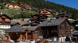 Grimentz dorp