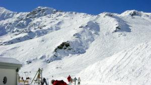 Zinal dorpje in skigebied Val d'Anniviers