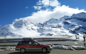 verkeer richting de wintersportgebieden