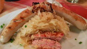 Sauerkraut met bratwurst